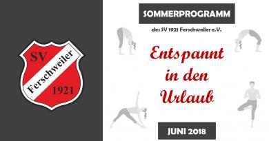 Sommerprogramm des SV Ferschweiler