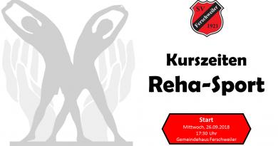 Start des Reha-Sports beim SV 1921 Ferschweiler e.V.
